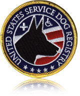 United States Service Dog Registry Patch