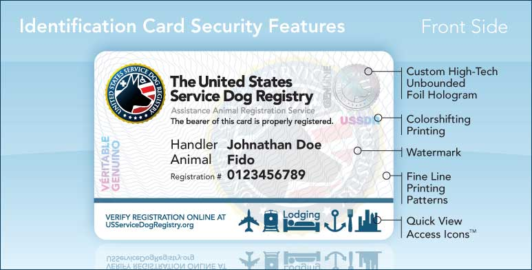 Free printable service dog certification dog breeds picture for Service registry